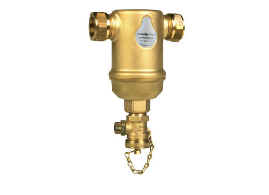 spirotrap-brass-left-view-horizontal